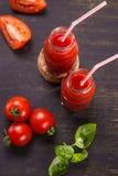 Smoothie von den Tomaten Lizenzfreies Stockbild