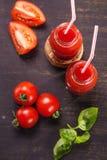 Smoothie von den Tomaten Stockfoto