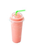 Smoothie. Watermelon and Cantaloupe smoothie with milk isolated on white background Royalty Free Stock Images