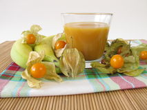 Free Smoothie With Banana And Physalis Stock Images - 40743914
