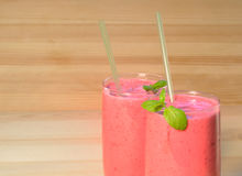 Smoothie on  wooden background Stock Photos