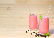 Smoothie on  wooden background Stock Images