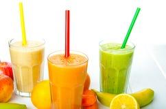 Smoothiedag, tid för sund drink Arkivfoto