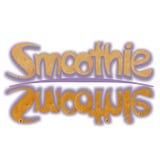 Smoothieord som fylls med banansmoothietextur Arkivbilder