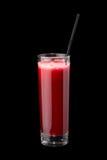 Smoothies свежих фруктов в стекле с соломой Стоковая Фотография