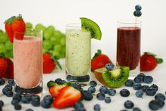 Smoothies Stockbild