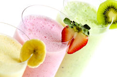 Smoothies Assorted da fruta Imagem de Stock Royalty Free