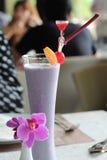 Smoothies. Blueberry smoothies ready to drink stock photos
