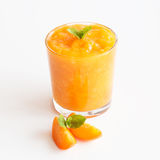 Smoothies d'abricot Photographie stock