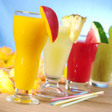 Smoothies da fruta Fotografia de Stock Royalty Free