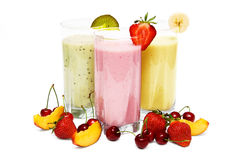 Smoothies da fruta fotografia de stock