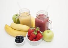 Smoothies da fruta Imagem de Stock