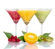 Smoothies da fruta e fruta deliciosos Foto de Stock