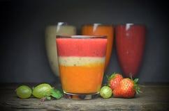 Smoothies da fruta fresca Foto de Stock