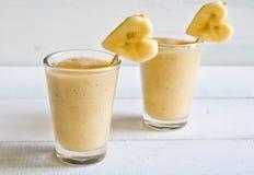 Smoothies de banane Photo libre de droits