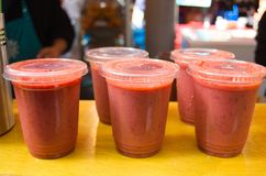 Smoothies de fraise photos libres de droits