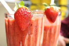 Smoothies de fraise Photo libre de droits