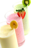 Smoothies de fruit Images stock