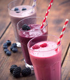 Smoothies de fruit Image libre de droits