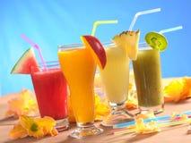 Smoothies de fruit frais Images libres de droits