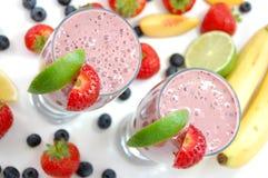 Smoothies de la fruta Imagen de archivo