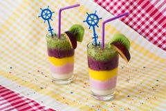 Smoothies de la fruta Foto de archivo libre de regalías