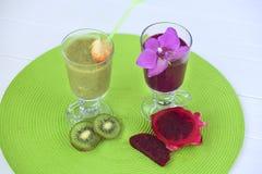Smoothies de la fruta Fotografía de archivo libre de regalías