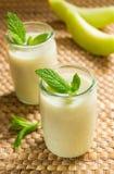 Smoothies de melon Photos libres de droits