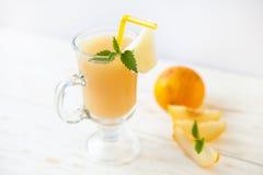 Smoothies de melon de cantaloup Image stock