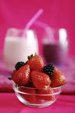 Smoothies della fragola Fotografie Stock