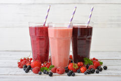 Smoothies with different berries Stock Image