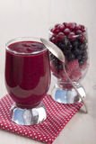 Smoothies of frozen raspberries, blueberries and cranberry with. Yogurt Stock Photography