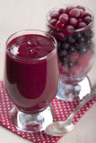 Smoothies of frozen raspberries, blueberries and cranberry with. Yogurt Stock Images