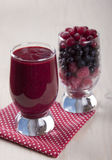 Smoothies of frozen raspberries, blueberries and cranberry with. Yogurt Royalty Free Stock Photos