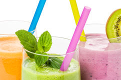 Smoothies from fruit and vegetables Royalty Free Stock Image