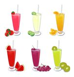 Smoothies fruit Stock Images