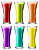 Smoothies in high glass Stock Photos