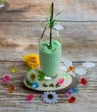 Smoothies and ice cream. Healthy summer. Breakfast on the veranda Stock Photo