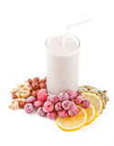 Smoothies isolated on white background Royalty Free Stock Photography