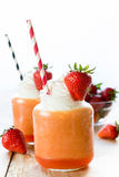 Smoothies in jar Royalty Free Stock Photo
