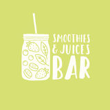 Smoothies and juices bar logotype Stock Photo