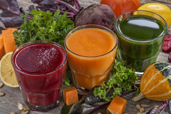 Smoothies and juices Royalty Free Stock Photo