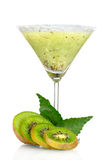 Smoothies of kiwi in glass Royalty Free Stock Photo