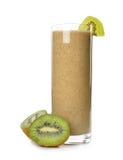 Smoothies of kiwi. Isolated on white background royalty free stock image