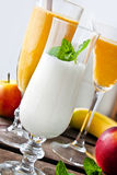 Smoothies and milkshake Royalty Free Stock Photography