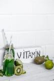 smoothies och vitaminer Royaltyfri Fotografi