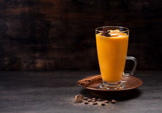 Smoothies pumpkin with spices Royalty Free Stock Image