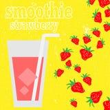 Smoothies sains de fruit dans le style de griffonnage Jus frais pour la santé Image stock