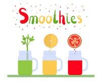 Smoothies 1 stock illustratie