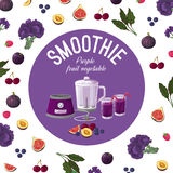 smoothies Vehículos púrpuras Ilustración del vector fotos de archivo libres de regalías
